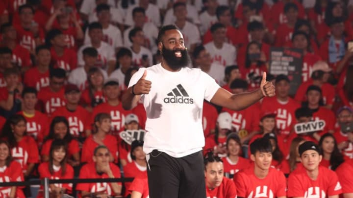 TAIWAN, CHINA - JULY 05: (CHINA MAINLAND OUT)James Harden fans meeting conference on 05th July, 2018 in Taipei, Taiwan, China.(Photo by TPG/Getty Images)
