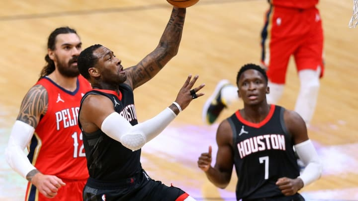 John Wall #1 of the Houston Rockets. (Photo by Jonathan Bachman/Getty Images)