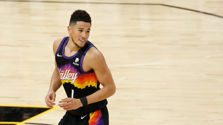 Devin Booker #1 of the Phoenix Suns (Photo by Christian Petersen/Getty Images)