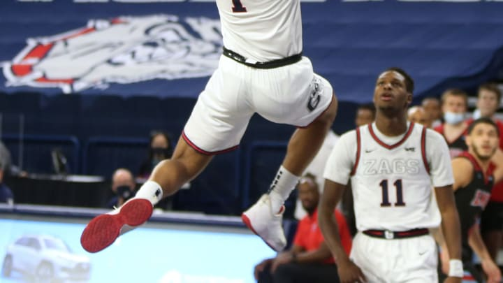 Jalen Suggs #1 of the Gonzaga Bulldogs (Photo by William Mancebo/Getty Images)
