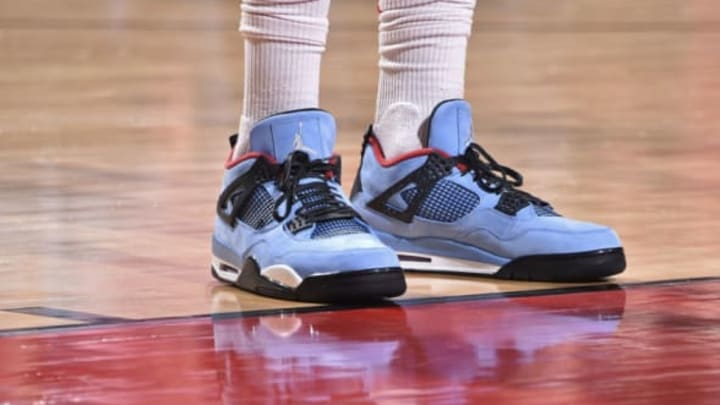 HOUSTON, TX – APRIL 18: Sneakers of PJ Tucker #4 of the Houston Rockets during the game against the Minnesota Timberwolves during Game Two of Round One of the 2018 NBA Playoffs on April 18, 2018 at the Toyota Center in Houston, Texas. Mandatory Copyright Notice: Copyright 2018 NBAE (Photo by Bill Baptist/NBAE via Getty Images)