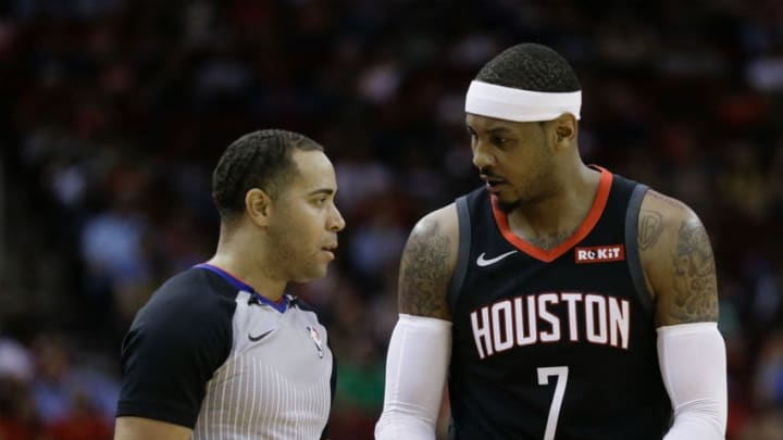 Carmelo Anthony #7 of the Houston Rockets (Photo by Bob Levey/Getty Images)