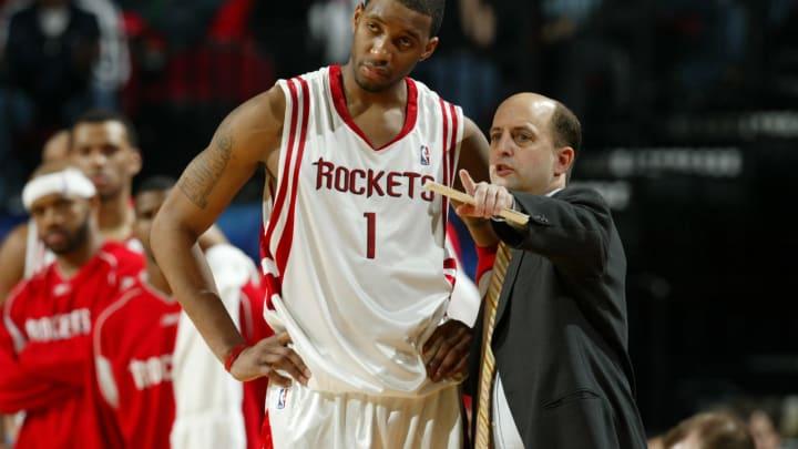 Houston Rockets RAFER ALSTON and head coach, JEFF VAN GUNDY