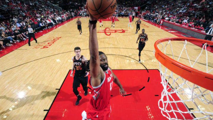Nene Hilario #42 of the Houston Rockets (Photo by Bill Baptist/NBAE via Getty Images)