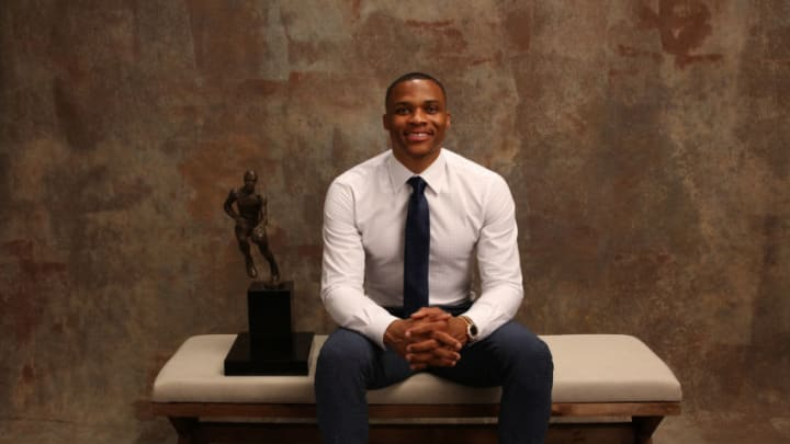 Russell Westbrook of the Oklahoma City Thunder (Photo by Michael J. LeBrecht II/NBAE via Getty Images)