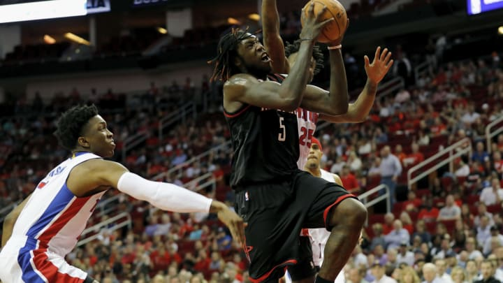 Montreal Harrell #5 of the Houston Rockets (Photo by Tim Warner/Getty Images)
