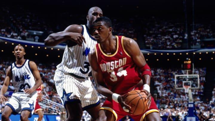 Houston Rockets Hakeem Olajuwon (Photo by Nathaniel S. Butler/NBAE via Getty Images)