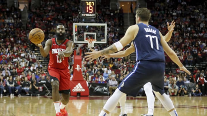James Harden Luka Doncic (Photo by Tim Warner/Getty Images)