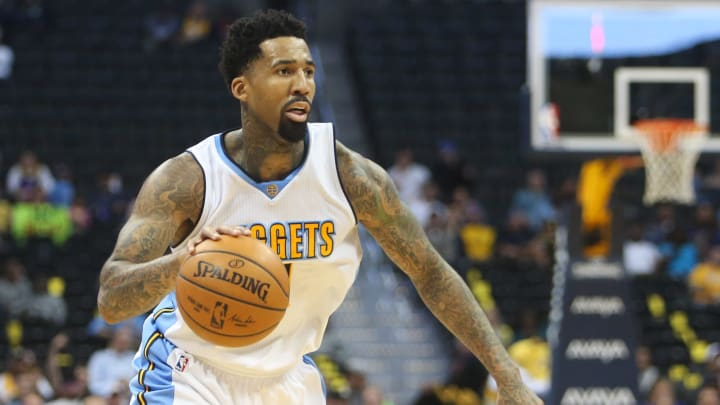 Nov 16, 2016; Denver, CO, USA; Denver Nuggets forward Wilson Chandler (21) during the second half against the Phoenix Suns at Pepsi Center. The Nuggets won 120-104. Mandatory Credit: Chris Humphreys-USA TODAY Sports