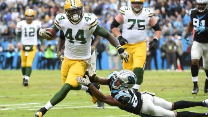 Nov 8, 2015; Charlotte, NC, USA; Green Bay Packers running back