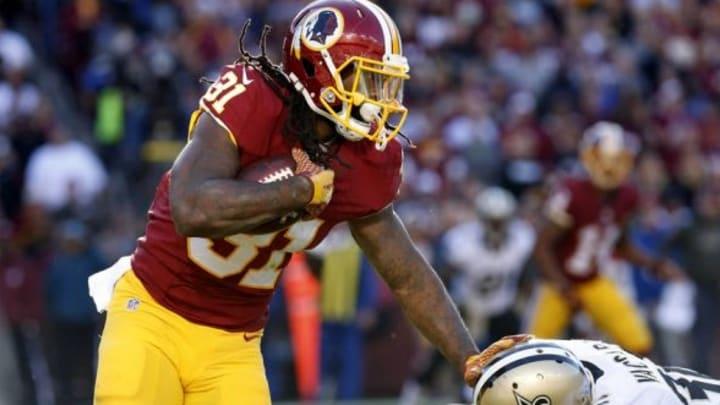 Nov 15, 2015; Landover, MD, USA; Washington Redskins running back
