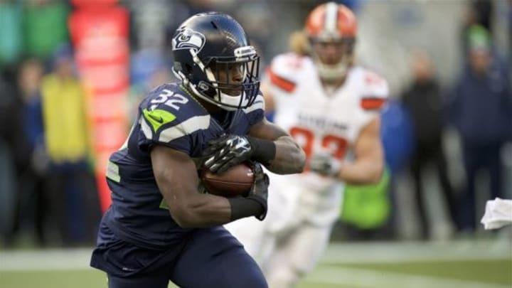 Dec 20, 2015; Seattle, WA, USA; Seattle Seahawks running back