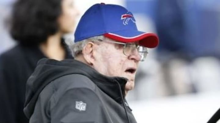 Sep 13, 2015; Orchard Park, NY, USA; Former NFL coach Buddy Ryan on the sideline before the game between the Buffalo Bills and the Indianapolis Colts at Ralph Wilson Stadium. Buddy