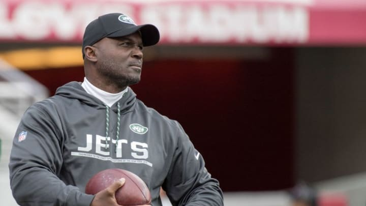 December 11, 2016; Santa Clara, CA, USA; New York Jets head coach Todd Bowles before the game against the San Francisco 49ers at Levi