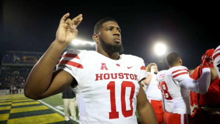 ANNAPOLIS, MD – OCTOBER 20: Ed Oliver #10 of the Houston Cougars looks on after the Houston Cougars defeated the Navy Midshipmen at Navy-Marines Memorial Stadium on October 20, 2018 in Annapolis, Maryland. New York Jets 2019 NFL Draft (Photo by Will Newton/Getty Images)