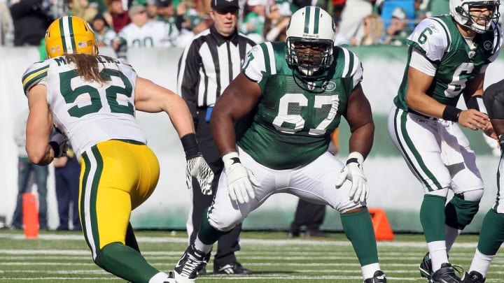 Damien Woody, New York Jets. (Photo by Jim McIsaac/Getty Images)