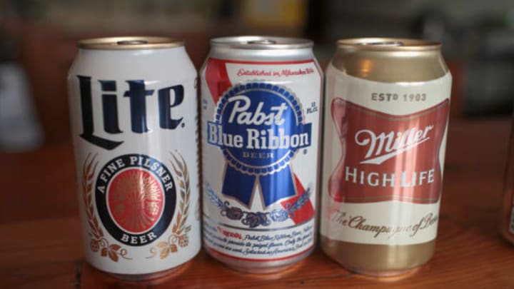 CHICAGO, IL – NOVEMBER 29: MillerCoors and Pabst products are shown on November 29, 2018 in Chicago, Illinois. Today the two brewers reached an agreement as the jury was deliberating in their civil suit that would extend their brewing arrangement despite their competition for the inexpensive beer market. (Photo Illustration by Scott Olson/Getty Images)