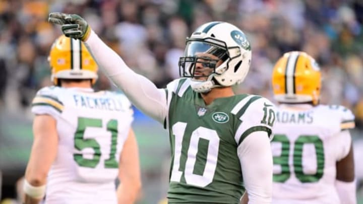 EAST RUTHERFORD, NJ – DECEMBER 23: Jermaine Kearse #10 of the New York Jets reacts against the Green Bay Packers at MetLife Stadium on December 23, 2018 in East Rutherford, New Jersey. (Photo by Steven Ryan/Getty Images)