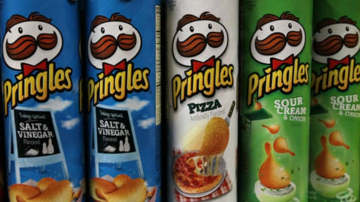 SAN FRANCISCO, CA – APRIL 05: Packages of Pringles potato chips are displayed on a shelf at a market on April 5, 2011 in San Francisco, California. Diamond Foods Inc. has agreed to purchase Pringles chip operations from Procter & Gamble Co. for $1.5 billion, a move that will triple the size of its snack foods business. (Photo by Justin Sullivan/Getty Images)