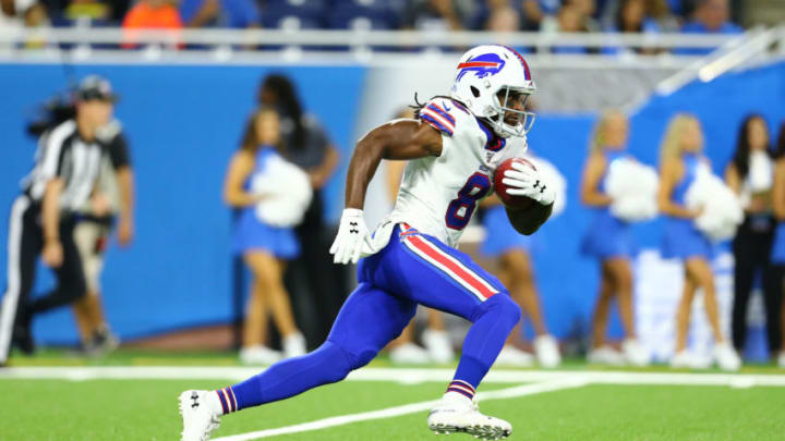 DETROIT, MI - AUGUST 23: Andre Roberts #8 of the Buffalo Bills runs the ball in the first half during the preseason game against the Detroit Lions at Ford Field on August 23, 2019 in Detroit, Michigan. (Photo by Rey Del Rio/Getty Images)