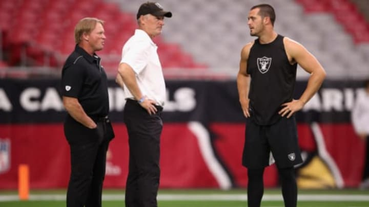 Oakland Raiders, Mike Mayock, Jon Gruden (Photo by Christian Petersen/Getty Images)