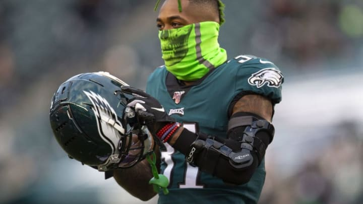 PHILADELPHIA, PA - JANUARY 05: Jalen Mills #31 of the Philadelphia Eagles looks on prior to the NFC Wild Card game against the Seattle Seahawks at Lincoln Financial Field on January 5, 2020 in Philadelphia, Pennsylvania. (Photo by Mitchell Leff/Getty Images)