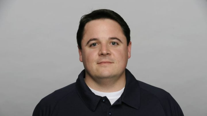 NASHVILLE, TN - CIRCA 2011: In this handout image provided by the NFL, Dowell Loggains of the Tennessee Titans poses for his NFL headshot circa 2011 in Nashville, Tennessee. (Photo by NFL via Getty Images)