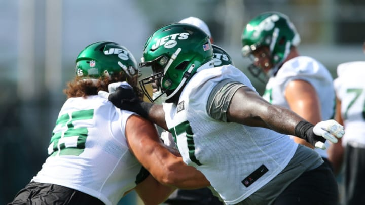 NY Jets, Mekhi Becton (Photo by Mike Stobe/Getty Images)