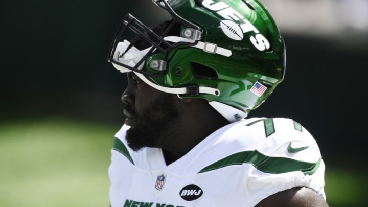 NY Jets, Mekhi Becton (Photo by Sarah Stier/Getty Images)