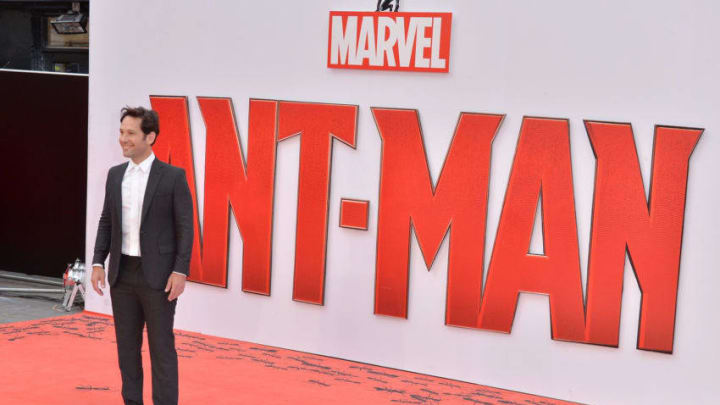 """LONDON, ENGLAND - JULY 08: Actor Paul Rudd attends the European Premiere of Marvel's """"Ant-Man"""" at the Odeon Leicester Square on July 8, 2015 in London, England. (Photo by Anthony Harvey/Getty Images)"""
