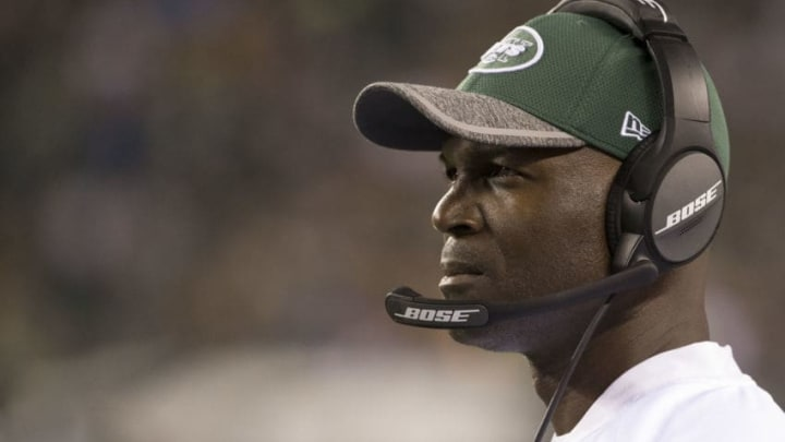 PHILADELPHIA, PA - SEPTEMBER 1: Head coach Todd Bowles of the New York Jets looks on during the game against the Philadelphia Eagles at Lincoln Financial Field on September 1, 2016 in Philadelphia, Pennsylvania. The Eagles defeated the Jets 14-6. (Photo by Mitchell Leff/Getty Images)
