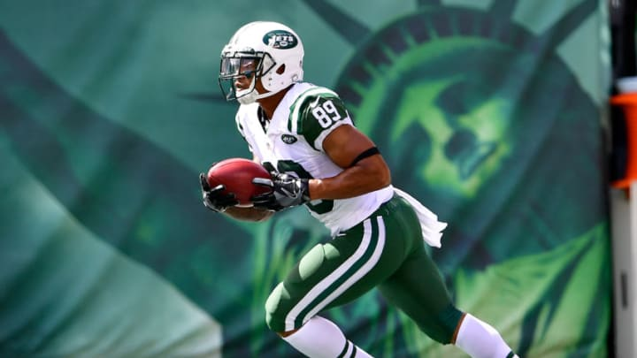 EAST RUTHERFORD, NJ - SEPTEMBER 11: Jalin Marshall #89 of the New York Jets returns a kickoff against the Cincinnati Bengals at MetLife Stadium on September 11, 2016 in East Rutherford, New Jersey. The Cincinnati Bengals defeated the New York Jets 23-22. (Photo by Steven Ryan/Getty Images)