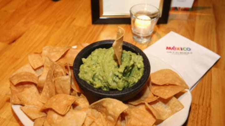 NEW YORK, NY – OCTOBER 08: A view of guacamole during Flavors of Mexico Presented by Mexico Tourism during The New Yorker Festival 2016 at Casa Neta on October 8, 2016 in New York City. (Photo by Donald Bowers/Getty Images for The New Yorker)