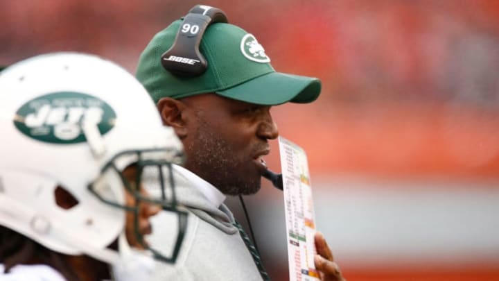 CLEVELAND, OH - OCTOBER 30: Head coach Todd Bowles of the New York Jets looks on during the first quarter against the Cleveland Browns at FirstEnergy Stadium on October 30, 2016 in Cleveland, Ohio. (Photo by Gregory Shamus/Getty Images)