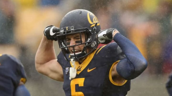 BERKELEY, CA – NOVEMBER 19: Chad Hansen #6 of the California Golden Bears reacts after running in for touchdown against the Stanford Cardinal at California Memorial Stadium on November 19, 2016 in Berkeley, California. (Photo by Ezra Shaw/Getty Images)