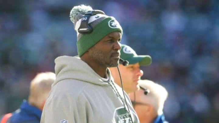 EAST RUTHERFORD, NJ – JANUARY 01: Head coach Todd Bowles of the New York Jets watches from the sideline during the first quarter of their game against the Buffalo Bills at MetLife Stadium on January 1, 2017 in East Rutherford, New Jersey. (Photo by Ed Mulholland/Getty Images)
