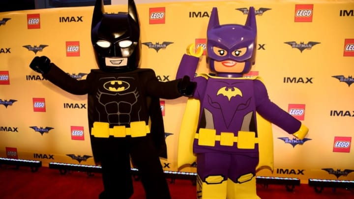 NEW YORK, NY - FEBRUARY 09: Action Figures and Statues of 'The Lego Batman Movie' on display for the New York Screening at AMC Loews Lincoln Square 13 on February 9, 2017 in New York City. (Photo by Dave Kotinsky/Getty Images)