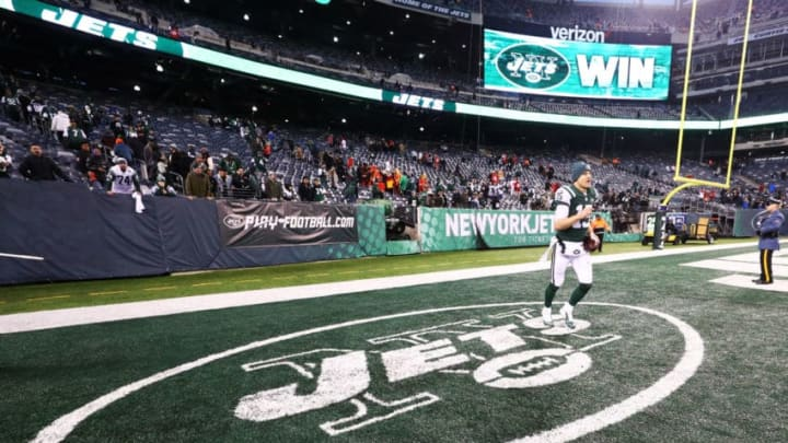 EAST RUTHERFORD, NJ - DECEMBER 03: Josh McCown #15 of the New York Jets celebrates after defeating the Kansas City Chiefs 38-31 after their game at MetLife Stadium on December 3, 2017 in East Rutherford, New Jersey. (Photo by Al Bello/Getty Images)