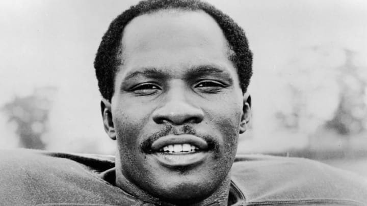 Portrait of American football player Emerson Boozer, a running back for the New York Jets, early 1970s. (Photo by Hulton Archive/Getty Images)