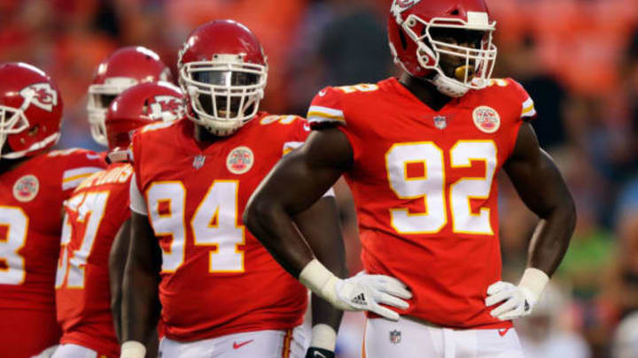 KANSAS CITY, MO – AUGUST 31: Defensive end Tanoh Kpassagnon #92 of the Kansas City Chiefs in action during the game against the Tennessee Titans at Arrowhead Stadium on August 31, 2017 in Kansas City, Missouri. (Photo by Jamie Squire/Getty Images)
