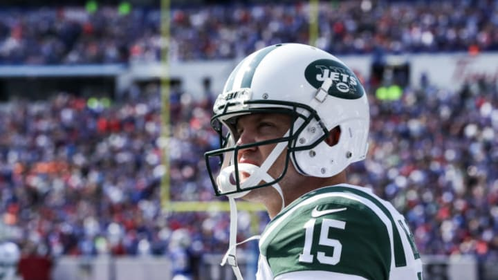 ORCHARD PARK, NY - SEPTEMBER 10: Josh McCown #15 of the New York Jets during the second half against the Buffalo Bills on September 10, 2017 at New Era Field in Orchard Park, New York. (Photo by Tom Szczerbowski/Getty Images)
