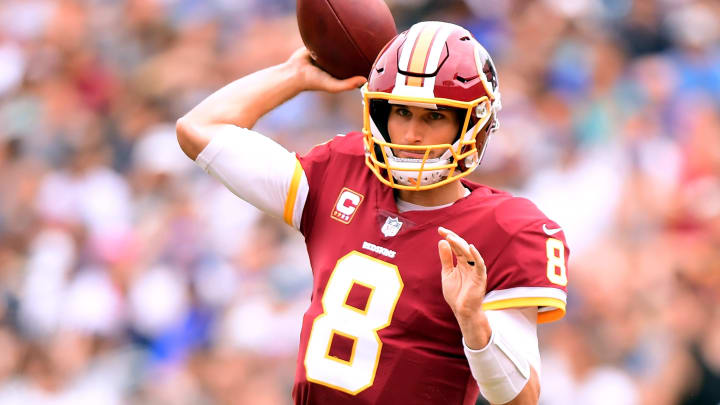 LOS ANGELES, CA – SEPTEMBER 17: Kirk Cousins #8 of the Washington Redskins passes during the game against the Los Angeles Rams at Los Angeles Memorial Coliseum on September 17, 2017 in Los Angeles, California. (Photo by Harry How/Getty Images)