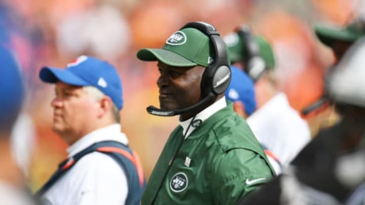 CLEVELAND, OH – OCTOBER 08: Head coach Todd Bowles of the New York Jets is seen in the in the first half against the Cleveland Browns at FirstEnergy Stadium on October 8, 2017 in Cleveland, Ohio. (Photo by Jason Miller/Getty Images)