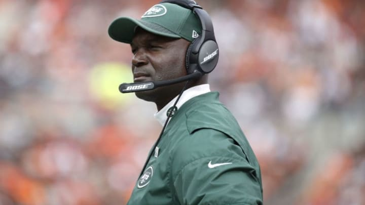 CLEVELAND, OH - OCTOBER 08: Head coach Todd Bowles of the New York Jets looks on in the second half against the Cleveland Browns at FirstEnergy Stadium on October 8, 2017 in Cleveland, Ohio. (Photo by Joe Robbins/Getty Images)