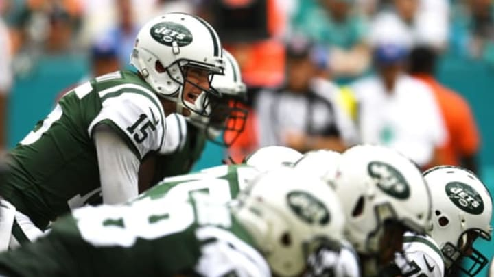 MIAMI GARDENS, FL – OCTOBER 22: Josh McCown #15 of the New York Jets during a game against the Miami Dolphins at Hard Rock Stadium on October 22, 2017 in Miami Gardens, Florida. (Photo by Rob Foldy/Getty Images)
