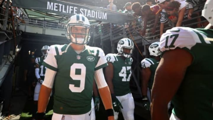 EAST RUTHERFORD, NJ – SEPTEMBER 24: Bryce Petty #9 of the New York Jets walks out of the tunnel prior to an NFL game against the Miami Dolphins at MetLife Stadium on September 24, 2017 in East Rutherford, New Jersey. (Photo by Al Bello/Getty Images)