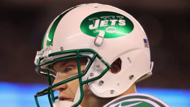 EAST RUTHERFORD, NJ – NOVEMBER 02: Josh McCown #15 of the New York Jets looks on during the first half of the game against the Buffalo Bills at MetLife Stadium on November 2, 2017 in East Rutherford, New Jersey. (Photo by Abbie Parr/Getty Images)