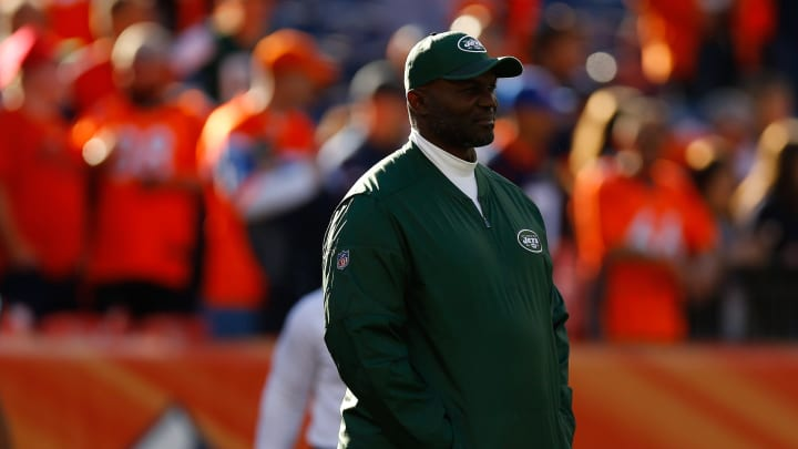 DENVER, CO – DECEMBER 10: Head coach Todd Bowles of the New York Jets looks on before a game against the Denver Broncos at Sports Authority Field at Mile High on December 10, 2017 in Denver, Colorado. (Photo by Justin Edmonds/Getty Images)