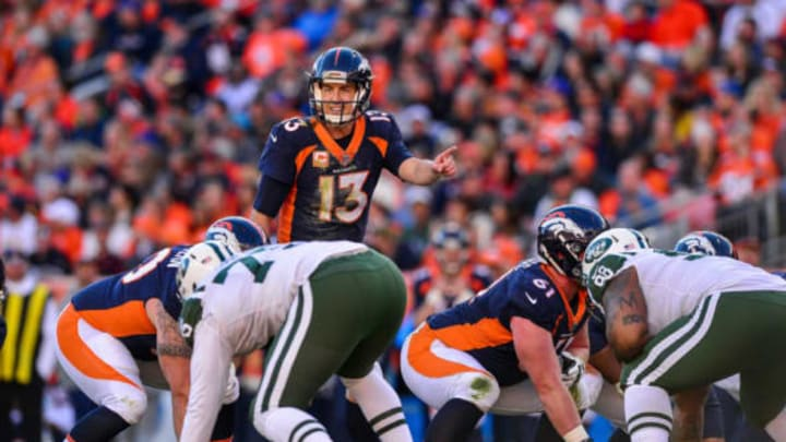 DENVER, CO – DECEMBER 10: Quarterback Trevor Siemian #13 of the Denver Broncos runs the offense against the New York Jets at Sports Authority Field at Mile High on December 10, 2017 in Denver, Colorado. (Photo by Dustin Bradford/Getty Images)