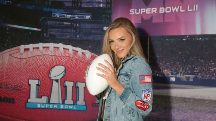 MINNEAPOLIS, MN - FEBRUARY 02: Model Camille Kostek attends SiriusXM at Super Bowl LII Radio Row at the Mall of America on February 2, 2018 in Bloomington, Minnesota. (Photo by Cindy Ord/Getty Images for SiriusXM)